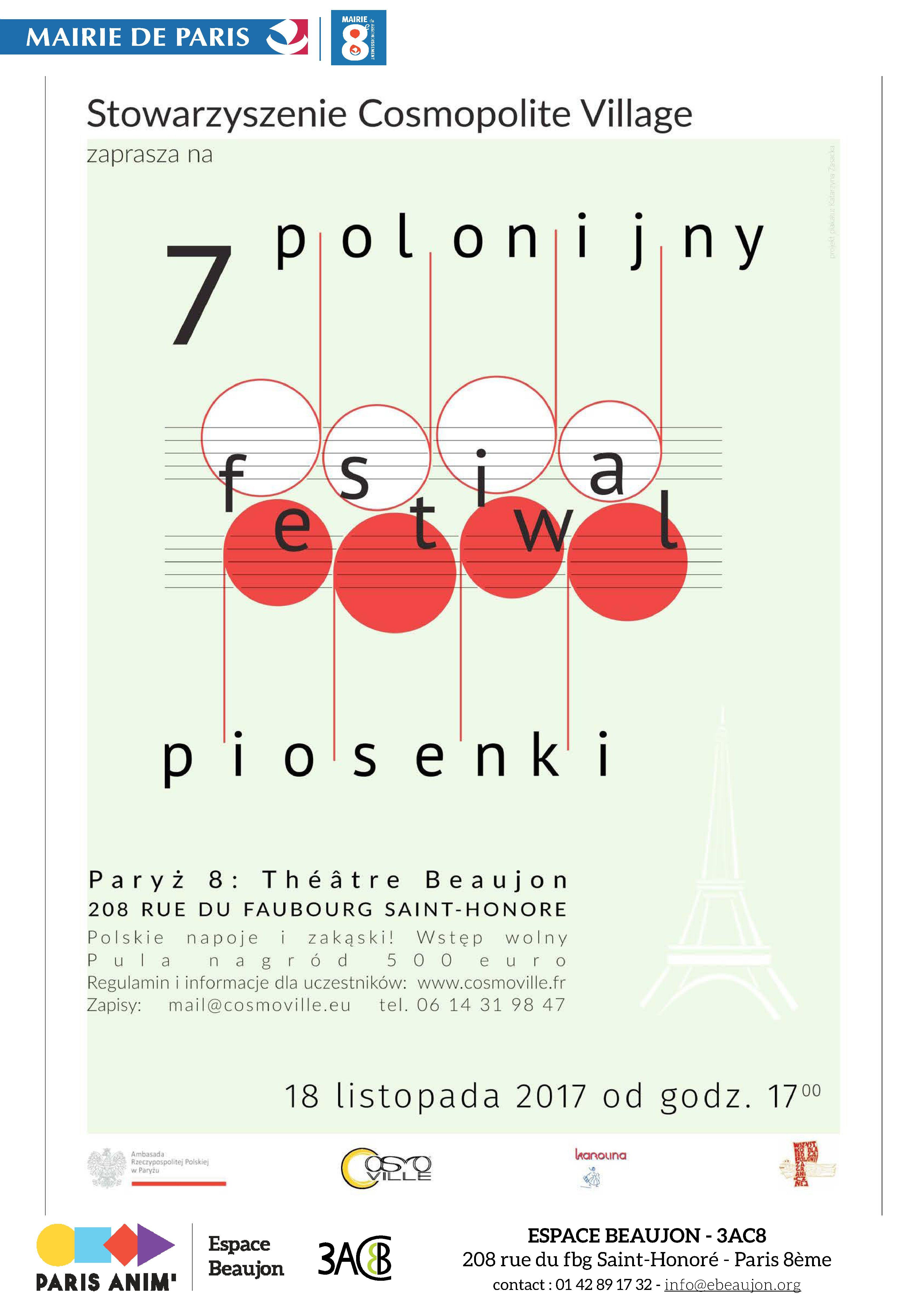 VII festiwal piosenki polskiej w Paryżu – centre-polonias.fr